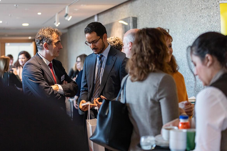 Wolfgang Allgeier im Gespräch mit Dr. Abo Youssef