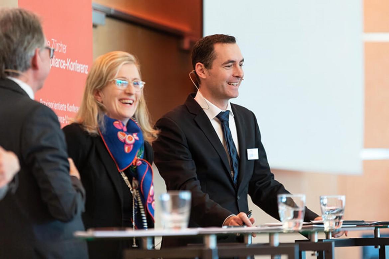 Die Paneldiskussion zum Thema Nachhaltige Compliance-Kultur: Wie schafft man es, dass Compliance vom Business als Mehrwert angesehen wird?