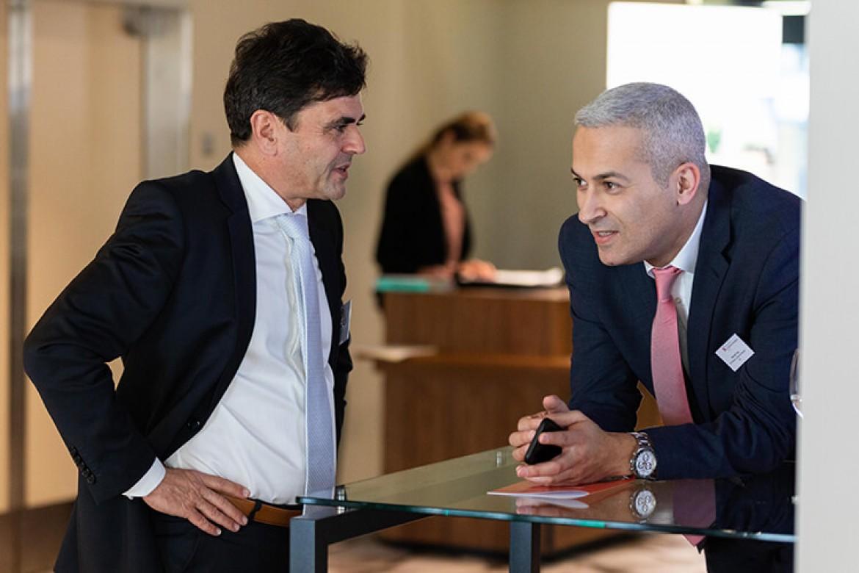 Dr. Daniel Lengauer und Firas Kharrat, Geschäftsführender Verleger der Schulthess Juristische Medien AG im Gespräch